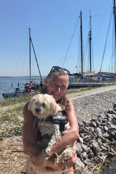 Yvonne with her dog Wypke